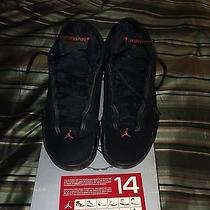 Nike Air Jordan Retro 14 Xiv Last Shot Sz 11.5 2005 Xi Iv Iii Black Red Box Card Photo