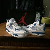 Nike Air Jordan Retro 4 Miltary Blue Photo