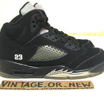 Nike Air Jordan v 5 Black Metallic Silver Retro Gs 2011 Sz 5y Grape Aqua Concord Photo