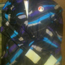 Nike Air Jordan Viii 8 Jacket Black Aqua Purple Large Photo