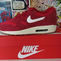 Nike Air Max 1 Essential Sued Red Gum Sole Apc Uk 9 Us 10 Bnib Ds Photo