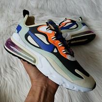 Nike Air Max 270 React Sneakers in Fossil/hyper Blue/black Womens Size 8 Photo