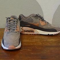 Nike Air Max 90 Gray Blush Leather Shoes - New Nwb Women's 8 Photo