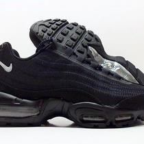 Nike Air Max 95 Prm Tape Premium Black/reflect Silver Sz Men's 9.5 599425-002 Photo