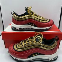 Nike Air Max 97 Red Gold Sequin - Ct1148-600 - 6.5w - Free Shipping Photo