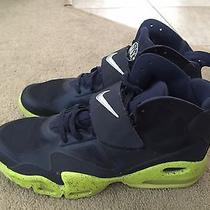 Nike Air Max Express Midnight Navy Blue-Volt Sz 14 525224-401 Used Photo
