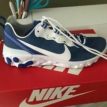 Nike Air React Element 55 Sneakers Size 10 Kentucky Wildcats Blue Photo