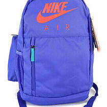 Nike Air Youth Unisex Elemental Travel Backpack Bag Violet Red Teal Ba6032-510 Photo
