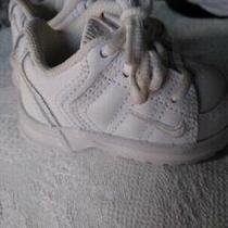 Nike - All White - Size 2.5 C - Euc - Sneaker - Tennis Shoe Photo