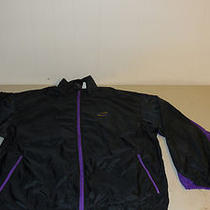 Nike Aqua Gear Wind Runner Jacket Coat 1990s Black Purple Athletic Mens Xl Large Photo