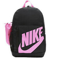 Nike Backpack Elemental Book Bag New With Pencil Case Black With Pink Logo Photo