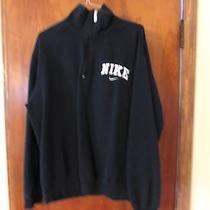 Nike Black Size L 1/4 Zipper Pullover Sweatshirt Photo