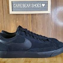 Nike Blazer Low Le Aq3597 001 Triple Black Suade Skateboarding Shoe Size 10 Photo