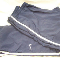 Nike Blue Lined Athletic Wind Pants- Xl Photo