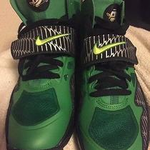 Nike Boys Air Trainer Express 4y Oregon Black Volt Apple Green Silver 685527 002 Photo