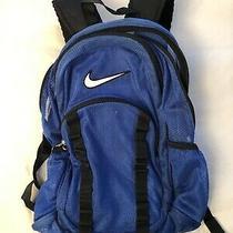 Nike Brasilia 7 Backpack Mesh Bookbag Large Royal Blue Photo