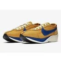 Nike Bv7779-700 Moon Racer Qs Yellow Blue Running Sneakers Shoes Men Size 11 Photo