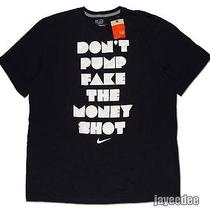 Nike Don't Pump Fake the Money Shot Basketball Shirt 451186-010 Black/white 2xl Photo