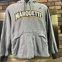 Nike Dri Fit Air Jordan Marquette University  Hooded Sweatshirt Mens Size Large  Photo