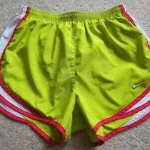 Nike Dri-Fit Chartreuse Green Red White Shorts S Run Built in Briefs Sold as Is Photo