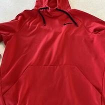Nike Dri Fit Dry Red Hooded Sweatshirt Hoodie Large Mens Photo