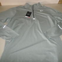 Nike Dri Fit Element 1/2 Zip Stretch Mica Green Running Pullover Sz Xl Photo