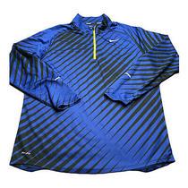 Nike Dri-Fit Element 1/4 Zip Pullover Mens Xl Running Shirt Long Sleeve Blue Photo
