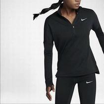 Nike Dri-Fit Element Half Zip Black Running Training Fleece Top Size Medium M Photo