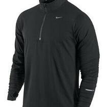Nike Dri-Fit Element Half-Zip Running Shirt Pullover 504606-010 Men's S Black Photo
