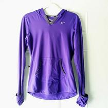 Nike Dri-Fit Element Running Pullover Hoodie Sweater Violet Sz Small Lightweight Photo