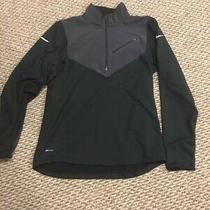 Nike Dri Fit Element Running Quarter Zip Black Mens Xl Exercise Shirt Photo