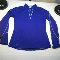 Nike Dri Fit Element Running Run 1/4 Zip Sweatshirt Womens M Reflective Strips Photo