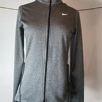 Nike Dri Fit Full Zip Element Stay Warm Womens Small S Running Shirt 640136 Gray Photo