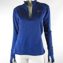 Nike Dri-Fit Half-Zip Blue Marled Element Sphere Running Top Nwd Xs Photo