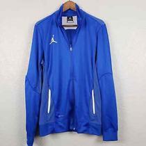 Nike Dri Fit Jacket Basketball - Blue White Athletic Sport Track - Men M Photo