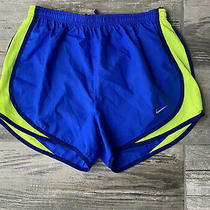Nike Dri-Fit Lined Running Athletic Shorts Womens Size Small Blue/neon Color Nwt Photo