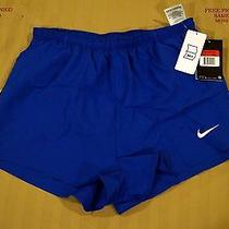 Nike Dri-Fit Men's Running Track or Other Shorts Blue Lightweight Large New Photo