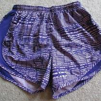 Nike Dri-Fit Pink Purple Print Shorts S Running Built in Briefs Photo