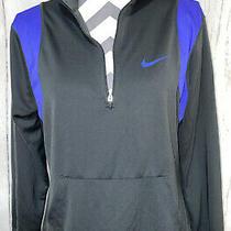 Nike Dri Fit Running Element 1/2 Quarter Zip Up Jacket Purple Gray Large L Photo