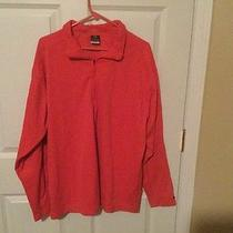Nike Dri Fit Running Mens Xxl Red Long Sleeve Pullover Nike Element 100% Poly  Photo