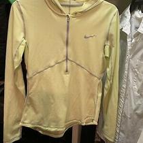Nike Dri Fit Soft Womens Pullover  3/4 Zip Jacket Yellow M Photo