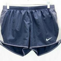 Nike Dri-Fit Womens Running Shorts Blue Brief Lined Size Medium  Photo