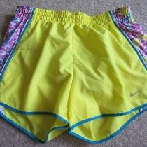 Nike Dri-Fit Yellow White Pink Blue Dot Shorts S Running Built in Briefs Photo