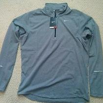 Nike Drifit Element Half Zip Men Running Jacket/top Sz Med Gray Clr Retail 65. Photo