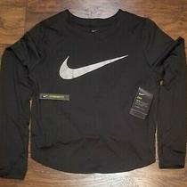 Nike Dry Element Black Running Yoga Women's Top Cn5169 056 Medium 60 Photo