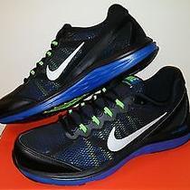 Nike Dual Fusion Run 3 Mens Running Shoes Size 10.5 Black/blue 653596 001 New Photo