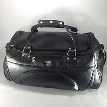 Nike Duffel Bag Golf Leather Large Black Carry on Luggage Gym Photo