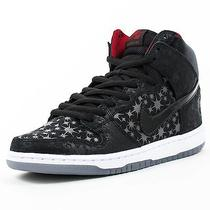 Nike Dunk High Premium Sb Shoes - Black/black/valiantred - Size 10 - Nib Photo
