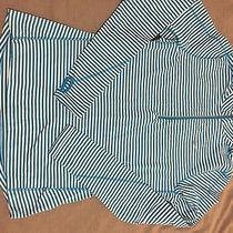 Nike Element 1/2 Zip-Blue and White Stripe-Women's Medium Photo
