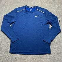 Nike Element 3.0 Running Crew Blue Size Xl Bv4717 452 Photo